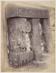 Close view of East Gateway of the Stupa at Bharhut: PRINT MISSING